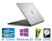 戴尔(DELL)XPS 13-9360-R1609 13.3英寸微边框非触控笔记本电脑(i5-7200U 8G 256G SSD HD显卡 FHD Win10)银色