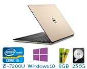 戴尔(DELL)XPS 13-9360-R1609G 13.3英寸微边框非触控笔记本电脑(i5-7200U 8G 256G SSD HD显卡 FHD Win10)玫瑰金