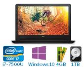 戴尔(DELL)灵越新飞匣3代 3000 Ins15ER-3725B 15.6英寸轻快大屏娱乐非触控笔记本电脑(i7-7500U 4G 1TB 2G独显 HD Win10)黑