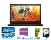 戴尔(DELL)灵越新飞匣3代 3568 Ins15ER-4725B 15.6英寸轻快大屏娱乐笔记本电脑(i7-7500U 4G 1T 2G独显 Win10) 黑