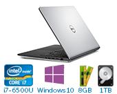 戴尔(DELL)Ins15MR-7749S 15.6英寸轻薄非触控笔记本电脑(i7-6500U  8G 1TB 4G独显 FHD Win10)星光银