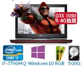 戴尔(DELL)新游匣Master15 Ins15-7567-R1745B 15.6英寸高配游戏非触控笔记本电脑(i7-7700HQ 8GB 500G+128G SSD GTX 1050Ti 4G独显 Win10)湛黑