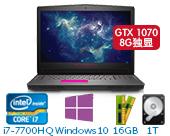 外星人(Alienware)ALW17C-R2758 17.3英寸游戏笔记本电脑非触控(i7-7700HQ 16G 1T+512G SSD GTX 1070 8G独显 Win10)