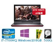 戴尔(DELL)灵越游匣Master Ins15-7567-R1745B 15.6英寸游戏非触控笔记本电脑(i7-7700HQ 8GB 500G+128G SSD GTX 1050Ti 4G独显 Win10)湛黑