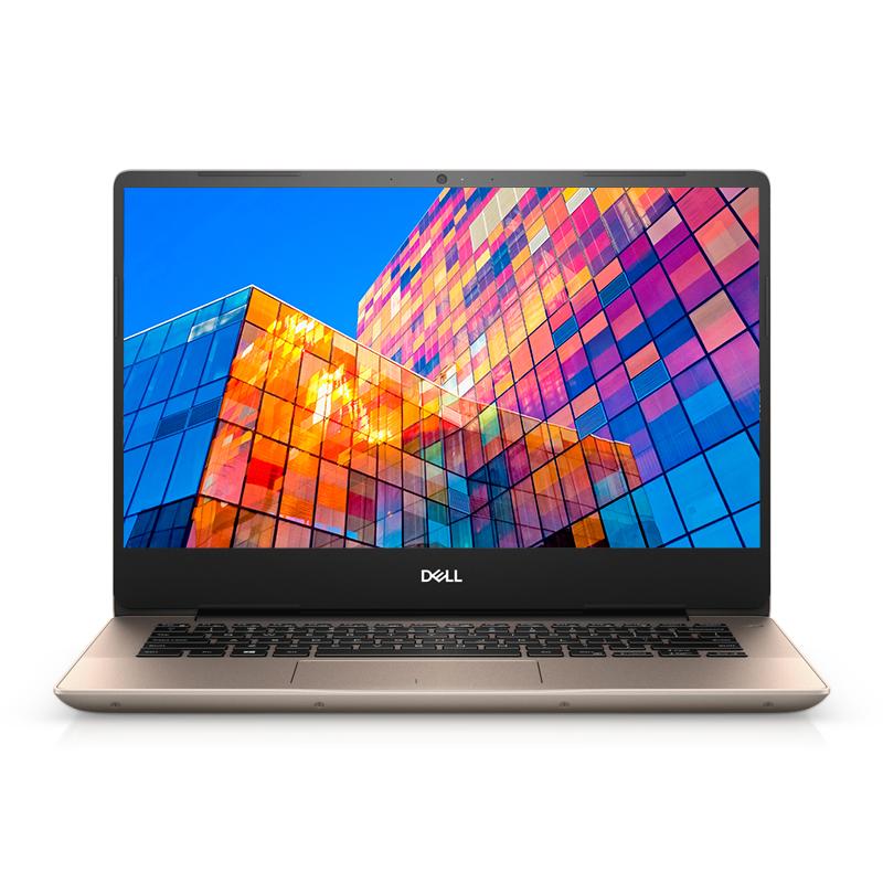 全新灵越5000 14英寸微边框轻薄本 Ins14-5488-R2625G 非触控笔记本电脑(第8代 i5-8265U Windows 10 家庭版 8GB 256GB SSD MX250 2G显卡 FHD )溢彩金